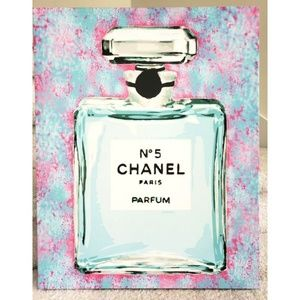 Other - Chanel Bottle Modernist Canvas Wall Art Pink Blue
